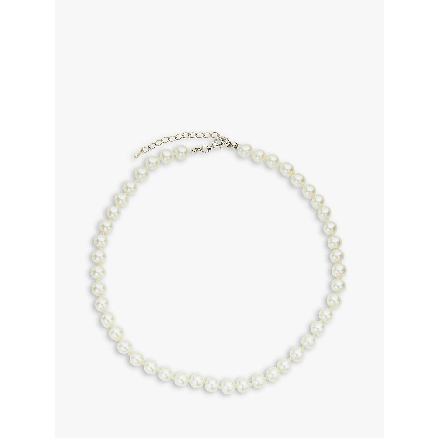 claire graduated pearl faux necklace s