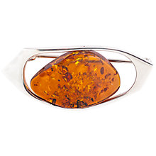 Buy Be-Jewelled Amber Free Form Brooch, Cognac Online at johnlewis.com