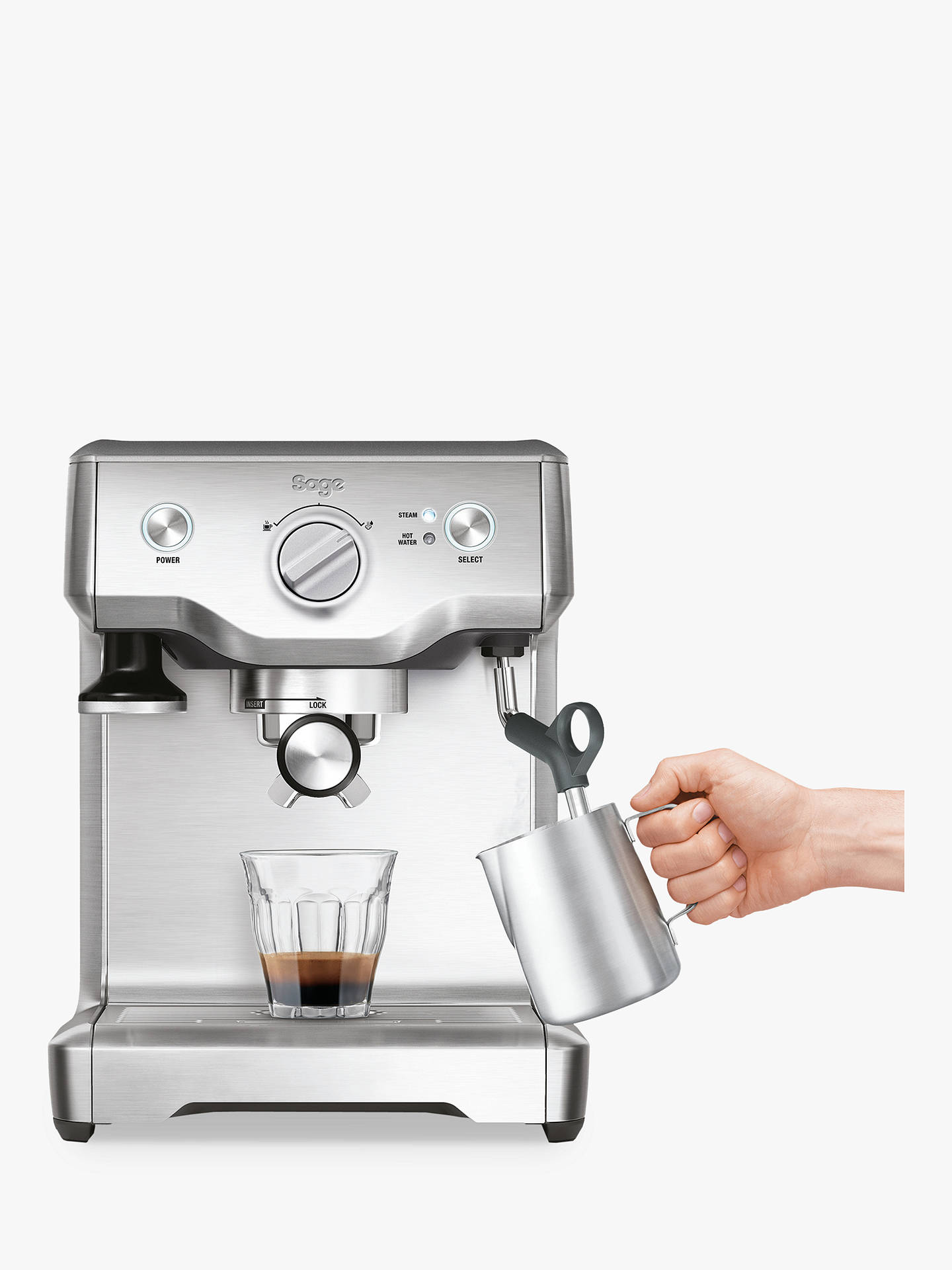 Buy Sage the Duo Temp Pro Espresso Coffee Machine, Brushed Stainless Steel Online at johnlewis.com