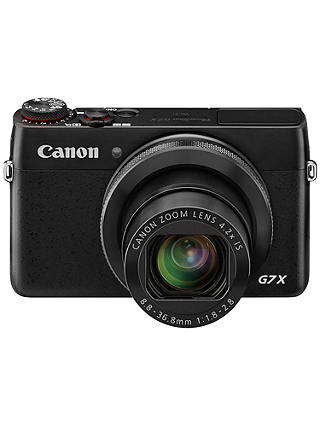 "Buy Canon PowerShot G7 X Digital Camera, HD 1080p, 20MP, 4.2X Optical Zoom, NFC, Wi-Fi, 3"" LCD Screen Online at johnlewis.com"