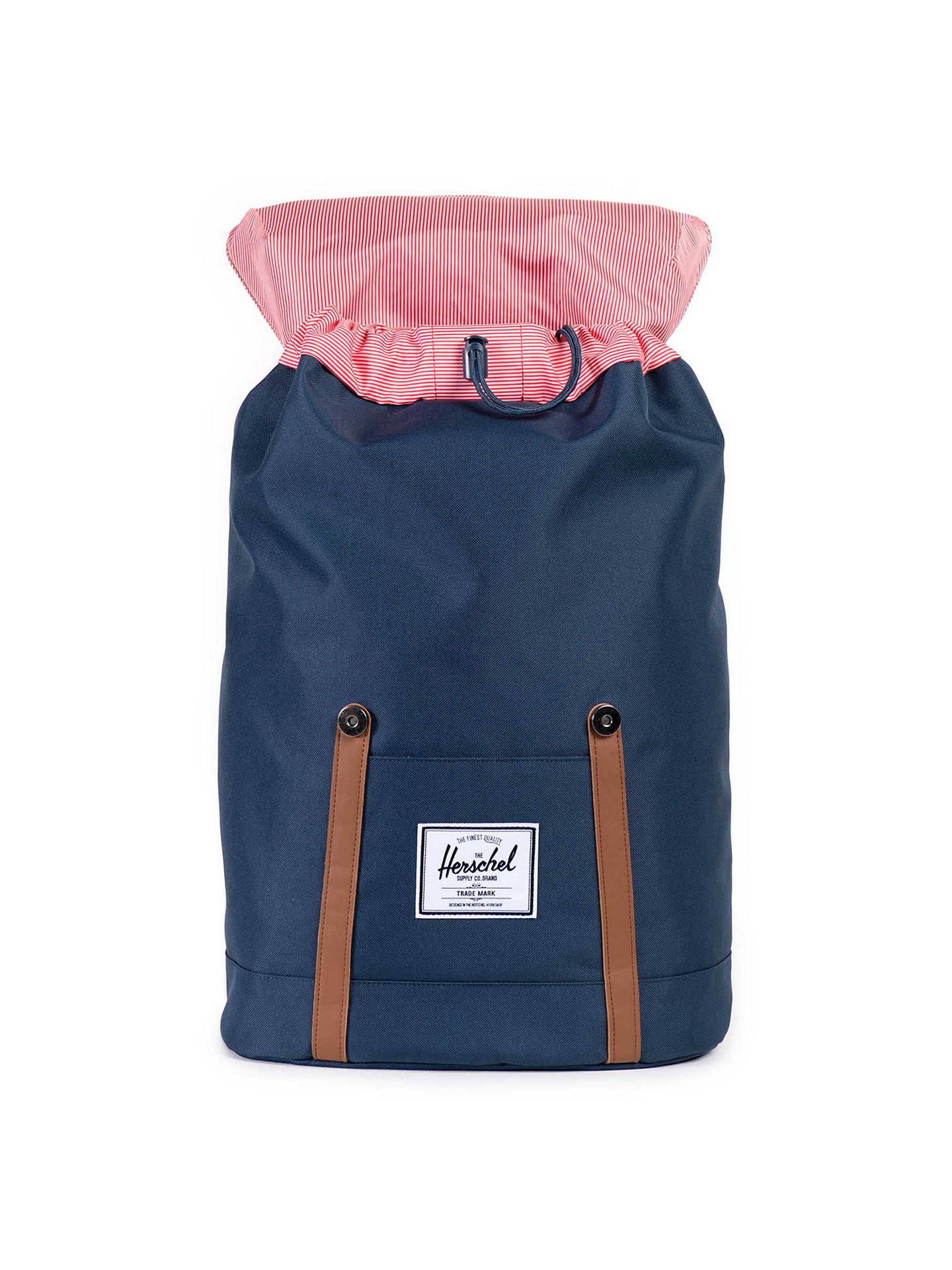 ... BuyHerschel Supply Co. Retreat Backpack, Navy Online at johnlewis.com  ... 054273223d