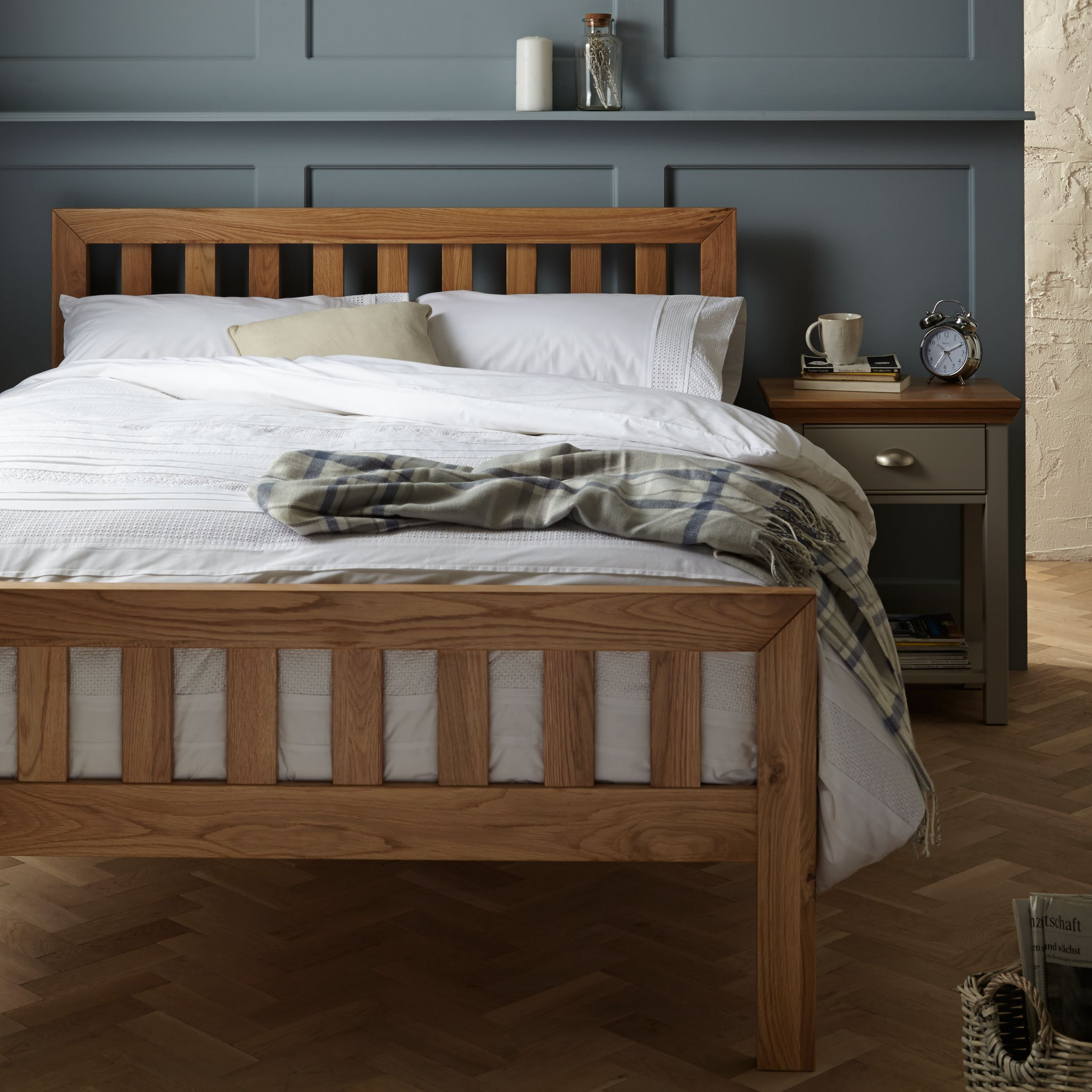 John Lewis Partners Cooper Bed Frame King Size Oak At John Lewis Partners