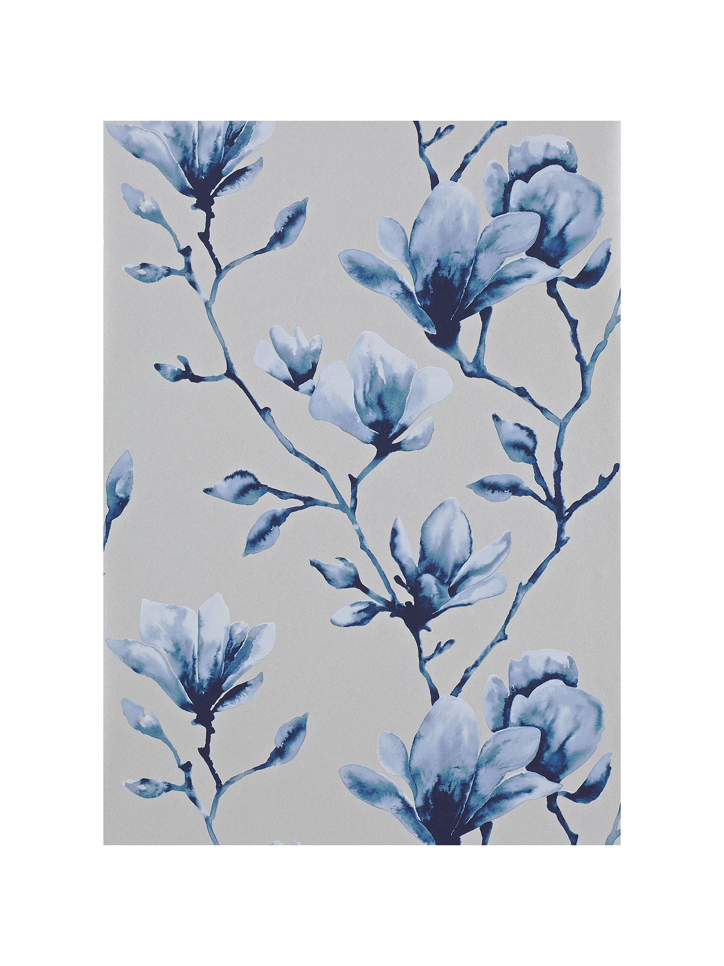 Buy Harlequin Lotus Wallpaper, Indigo 110881 Online at johnlewis.com