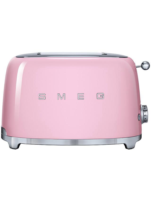 Smeg TSF01 2-Slice Toaster, Pink