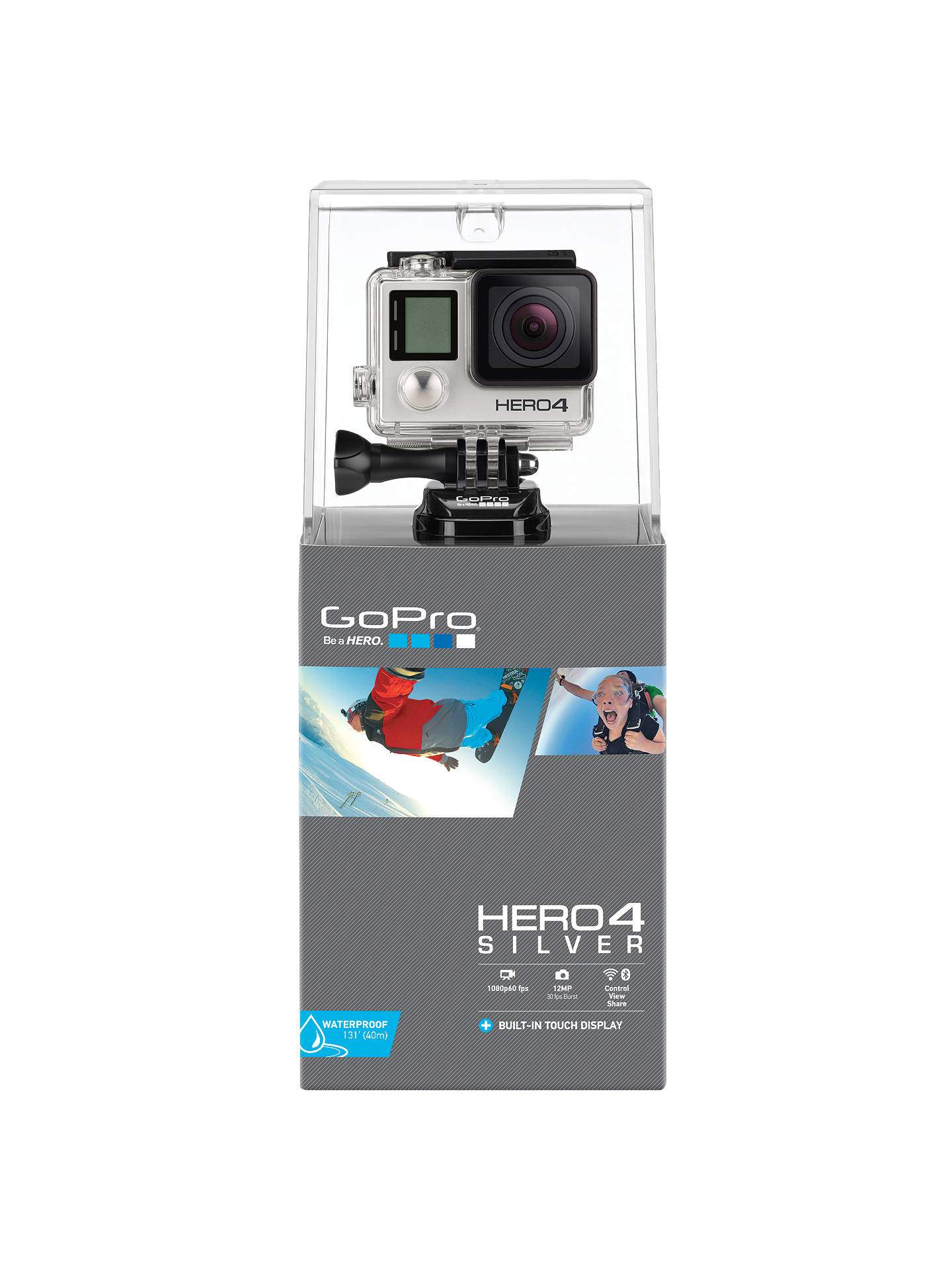 GoPro Hero4: Silver Edition Camcorder, HD 1080p, 12MP, Bluetooth, Wi ...