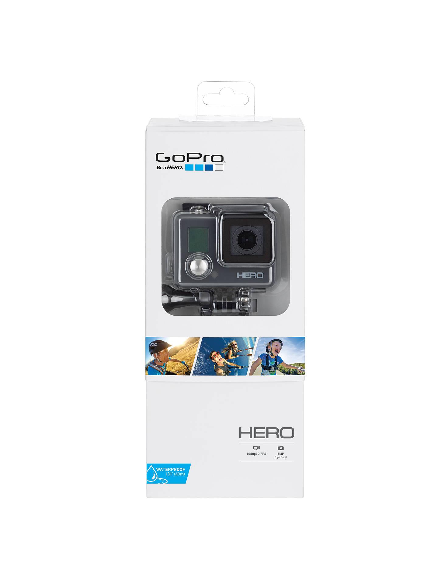 GoPro Hero Waterproof Camcorder, HD 1080p, 5MP at John Lewis & Partners
