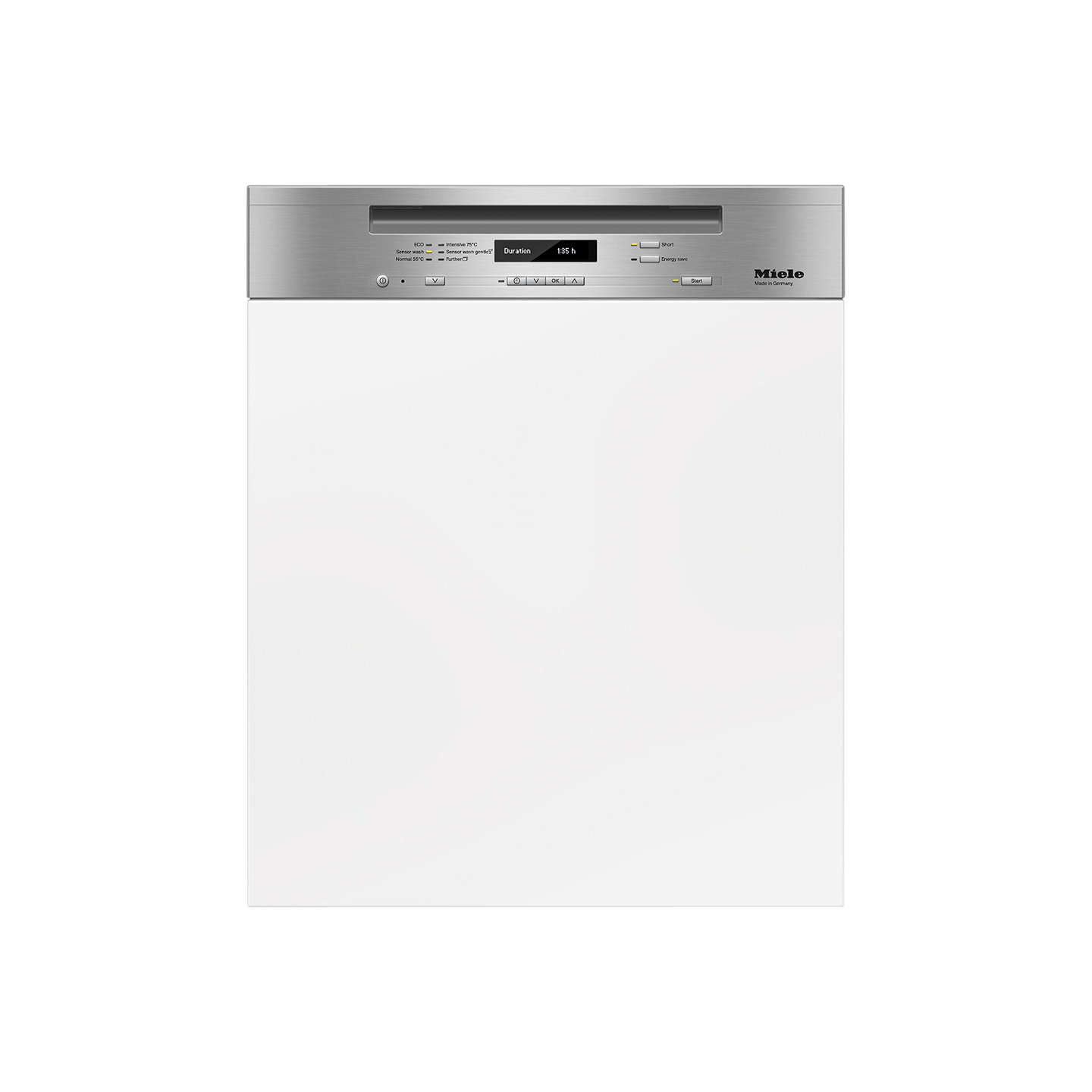 Miele G6410 SCi Semi-Integrated Dishwasher, Clean Steel at John Lewis