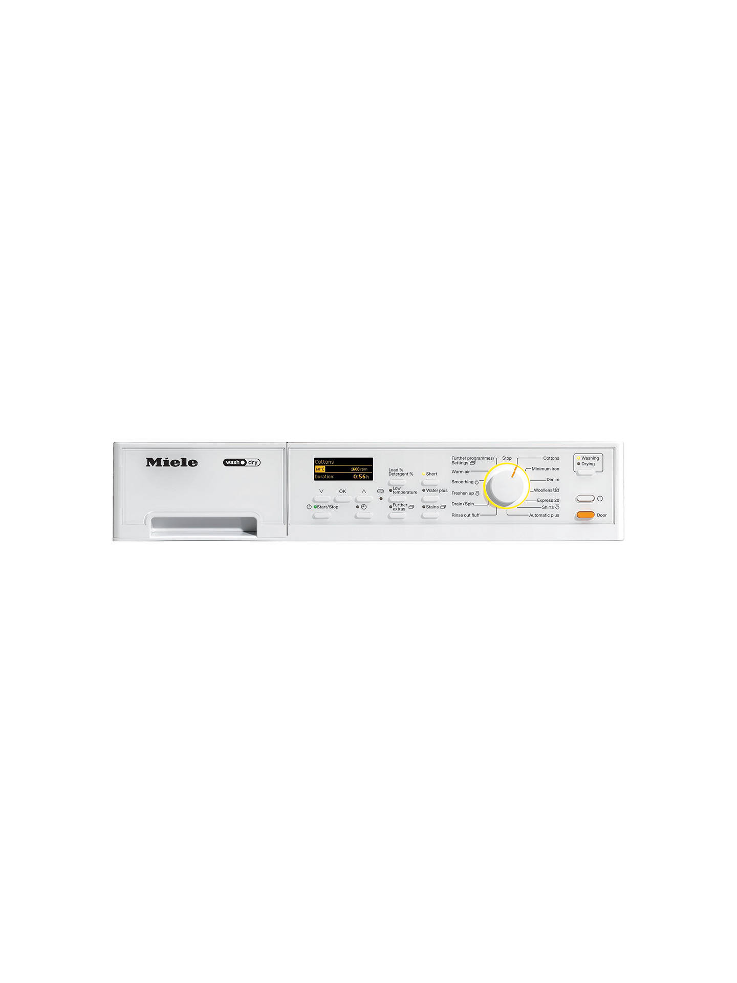 Miele WT2796 Washer Dryer, 6kg Wash/3kg Dry Load, A Energy Rating, 1600rpm  Spin, White