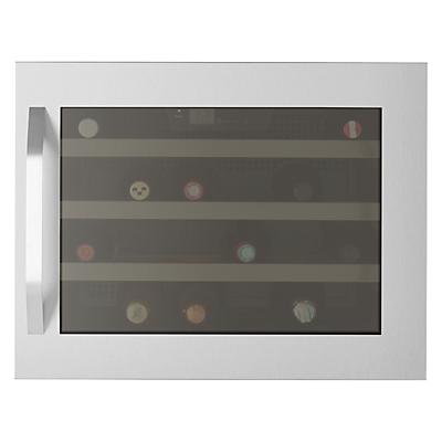 John Lewis JLWF610 Wine Cabinet, Stainless Steel