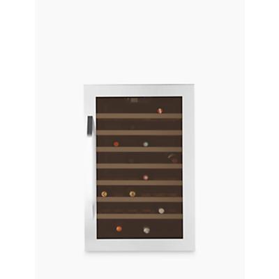 John Lewis JLWF611 Wine Cabinet, Stainless Steel