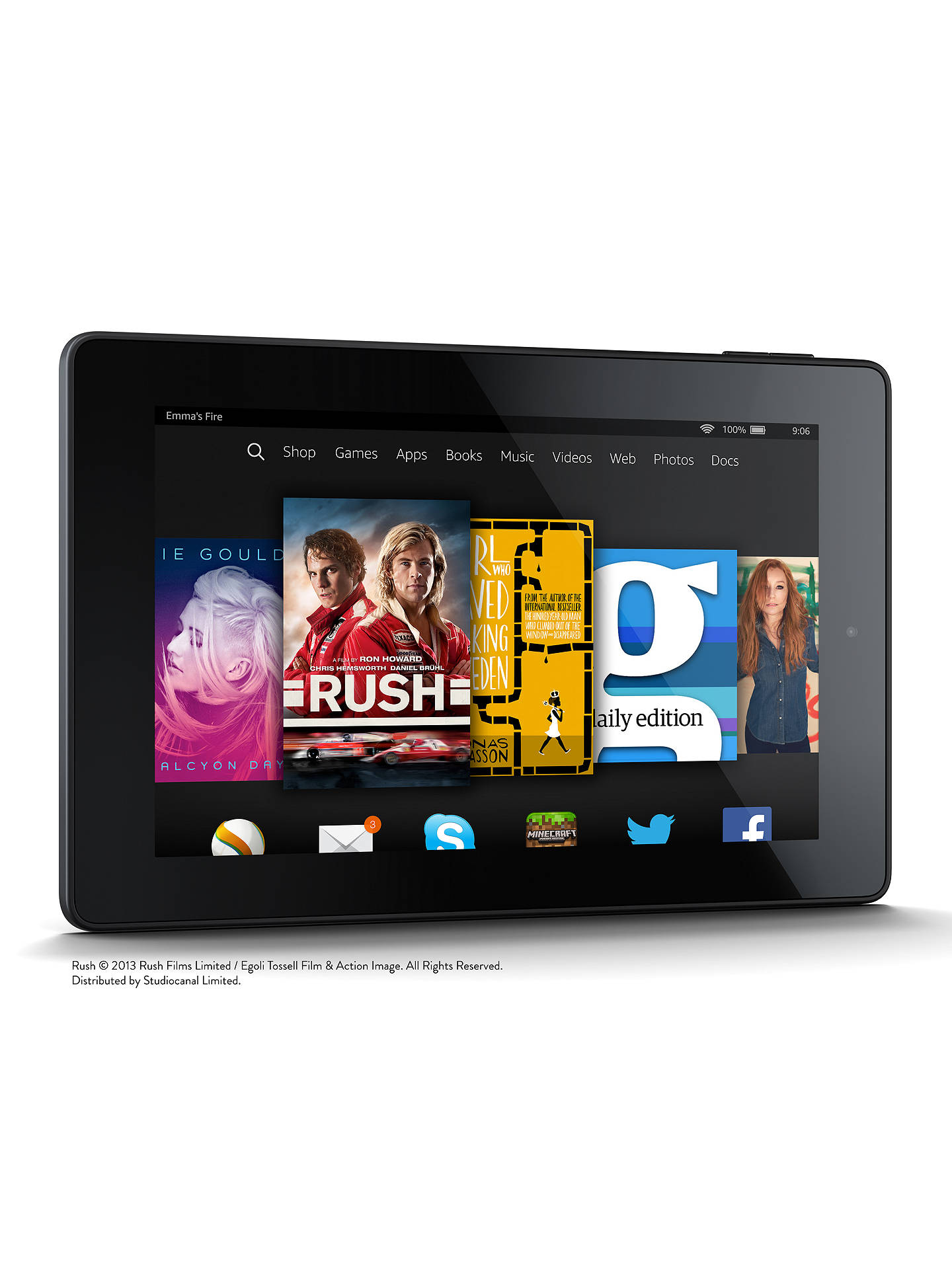 Amazon Fire HD 7 Tablet, Quad-core, Fire OS, 7