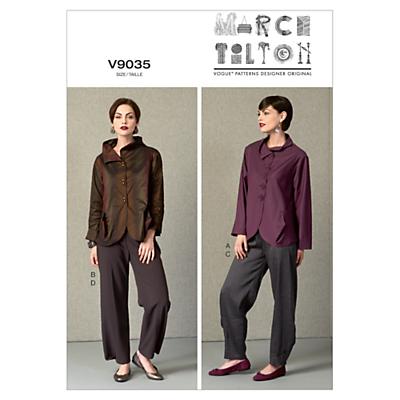 Vogue Marcy Tilton Women's Top & Trouser Set Sewing Pattern, 9035
