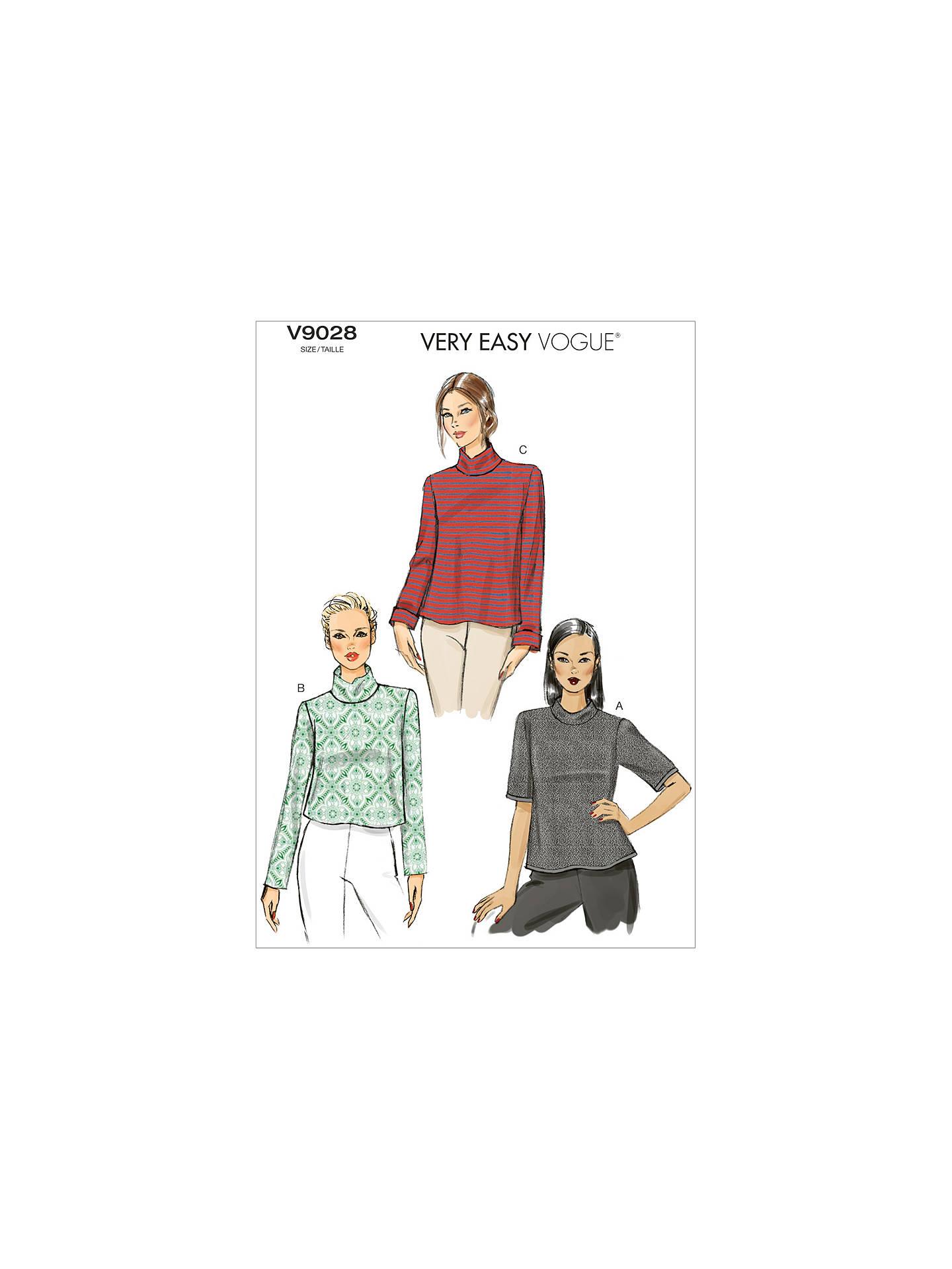 0fde25297 BuyVogue Women s High-Neck Top Sewing Pattern