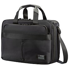 "Buy Samsonite CityVibe 3-Way 16"" Laptop Expandable Work Bag, Black Online at johnlewis.com"