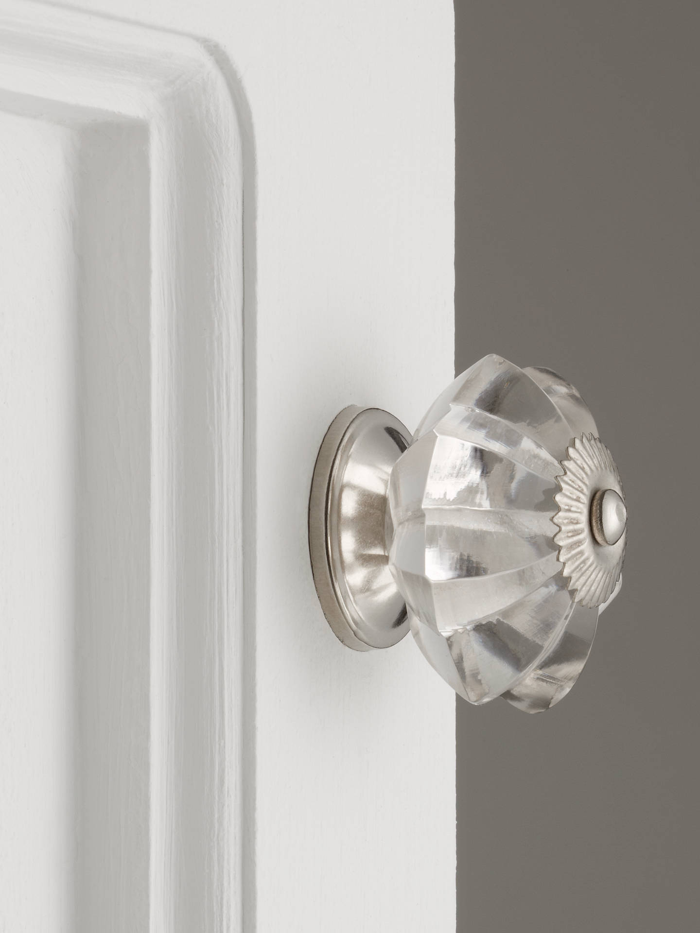 BuyJohn Lewis & Partners Glass Melon Cupboard Knob, Dia.50mm, Clear Online at johnlewis.com
