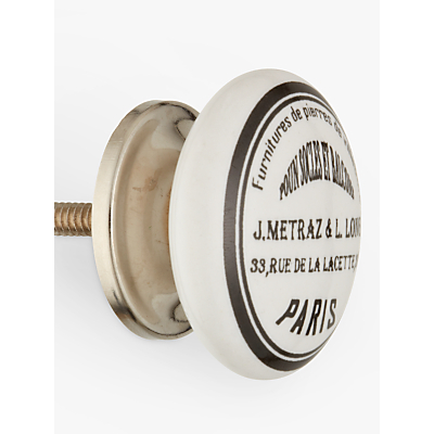 Image of John Lewis & Partners Maison Ceramic Cupboard Knob