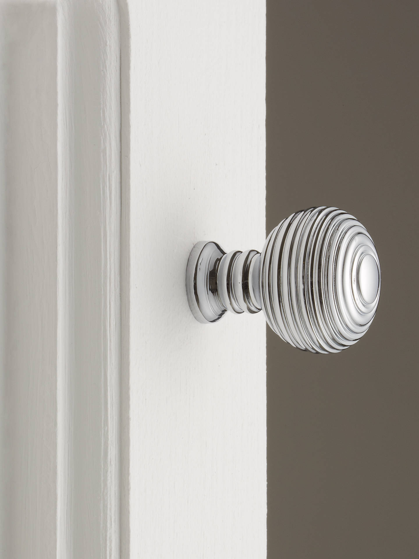 BuyJohn Lewis & Partners Ribbed Cupboard Knob, Polished Chrome, Dia.25mm Online at johnlewis.com