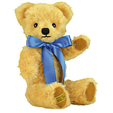 Buy Merrythought London Curly Gold Teddy Bear, H25cm Online at johnlewis.com