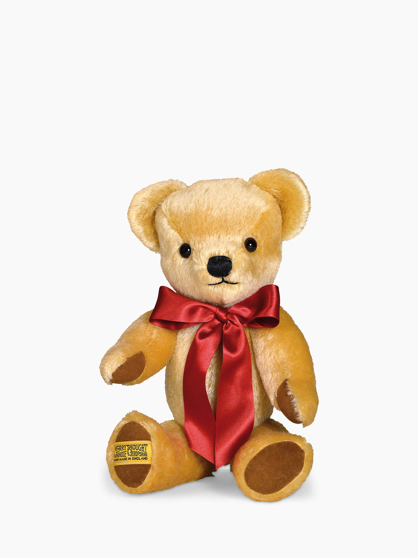 Buy Merrythought London Gold Teddy Bear Soft Toy, Medium Online at johnlewis.com
