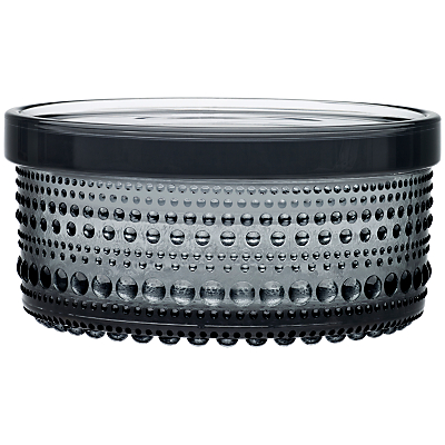 Iittala Kastehelmi Glass Jar, Dia.11.6cm