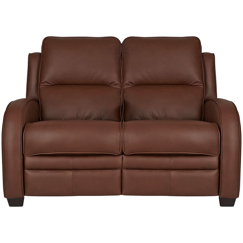 Parker Knoll Charleston Semi Aniline Leather Sofa Como Oak Online At Johnlewis