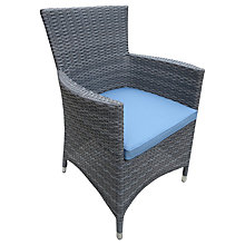 Buy John Lewis Malaga Garden Armchair, Grey Online at johnlewis.com