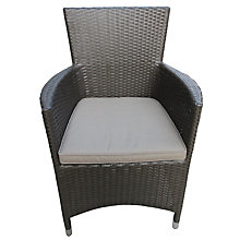 Buy John Lewis Malaga Outdoor Armchair, Brown Online at johnlewis.com