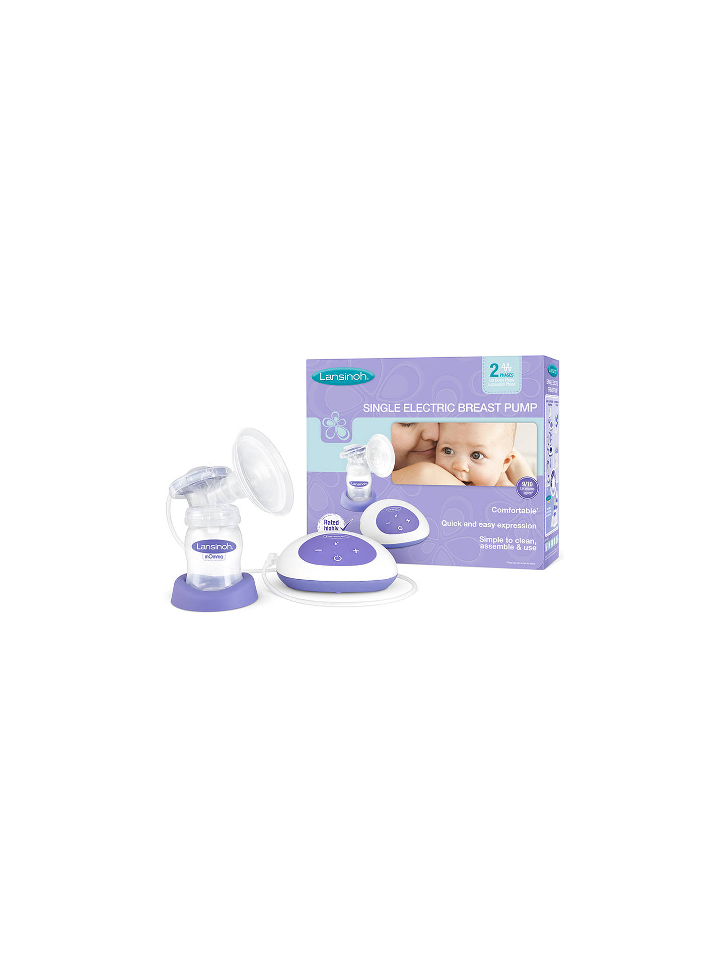 BuyLansinoh Single Electric Breast Pump Online at johnlewis.com