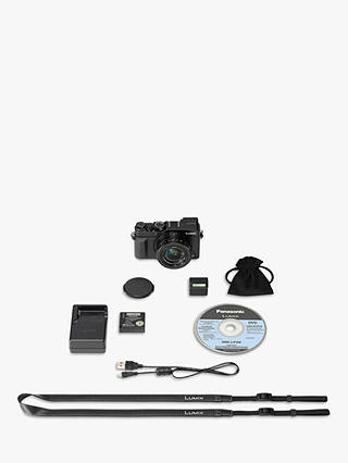 Panasonic Lumix DMC-LX100 Camera, 4K Ultra HD, 12.8MP, 3
