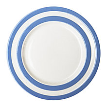 Buy Cornishware Breakfast Plate, Blue/White, Dia.23cm, Seconds Online at johnlewis.com