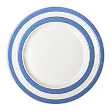 Buy Cornishware Lunch Plate, Blue/White, Dia.26cm, Seconds Online at johnlewis.com
