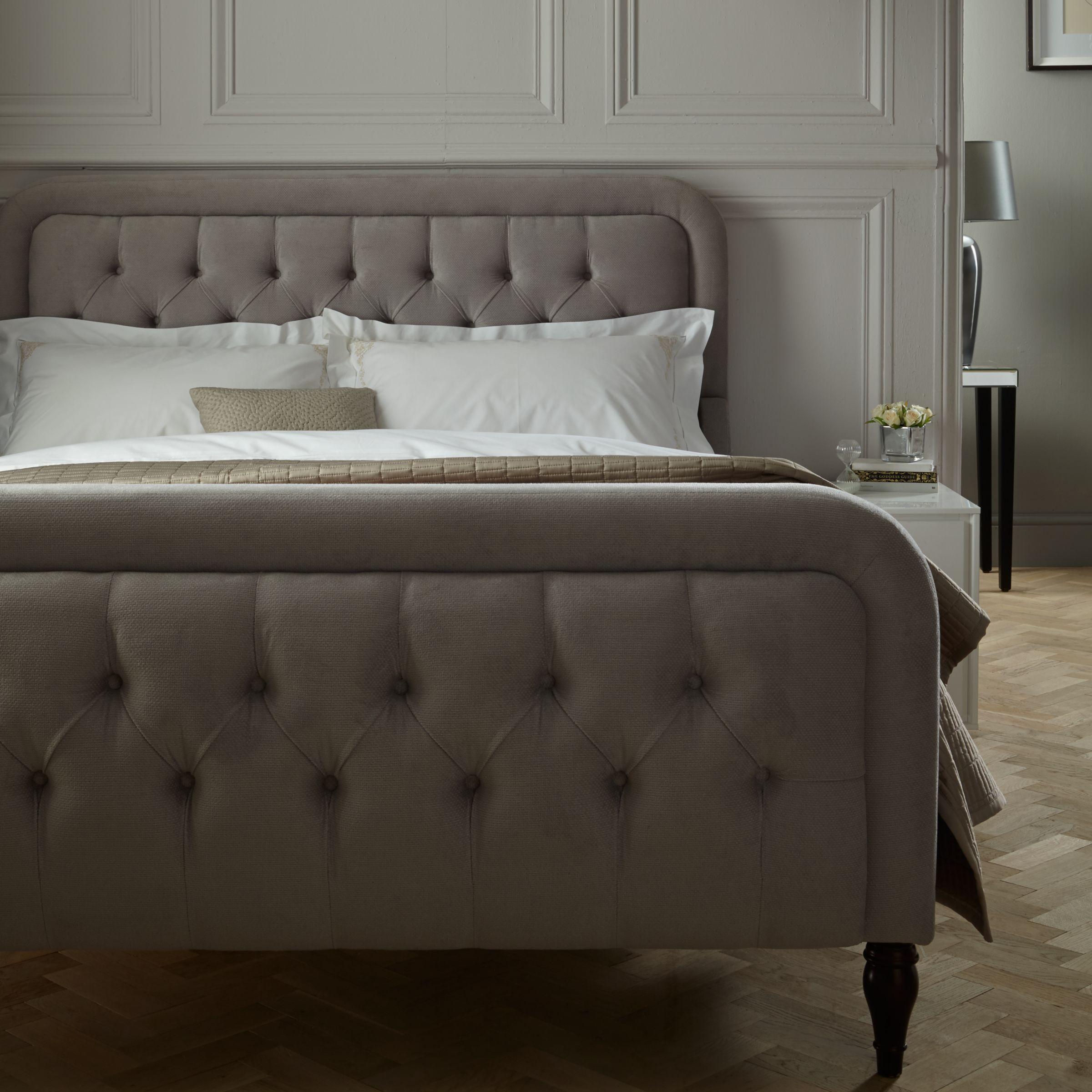 John Lewis Kingsley High End Bed Frame King Size Oslo Silver At John Lewis Partners