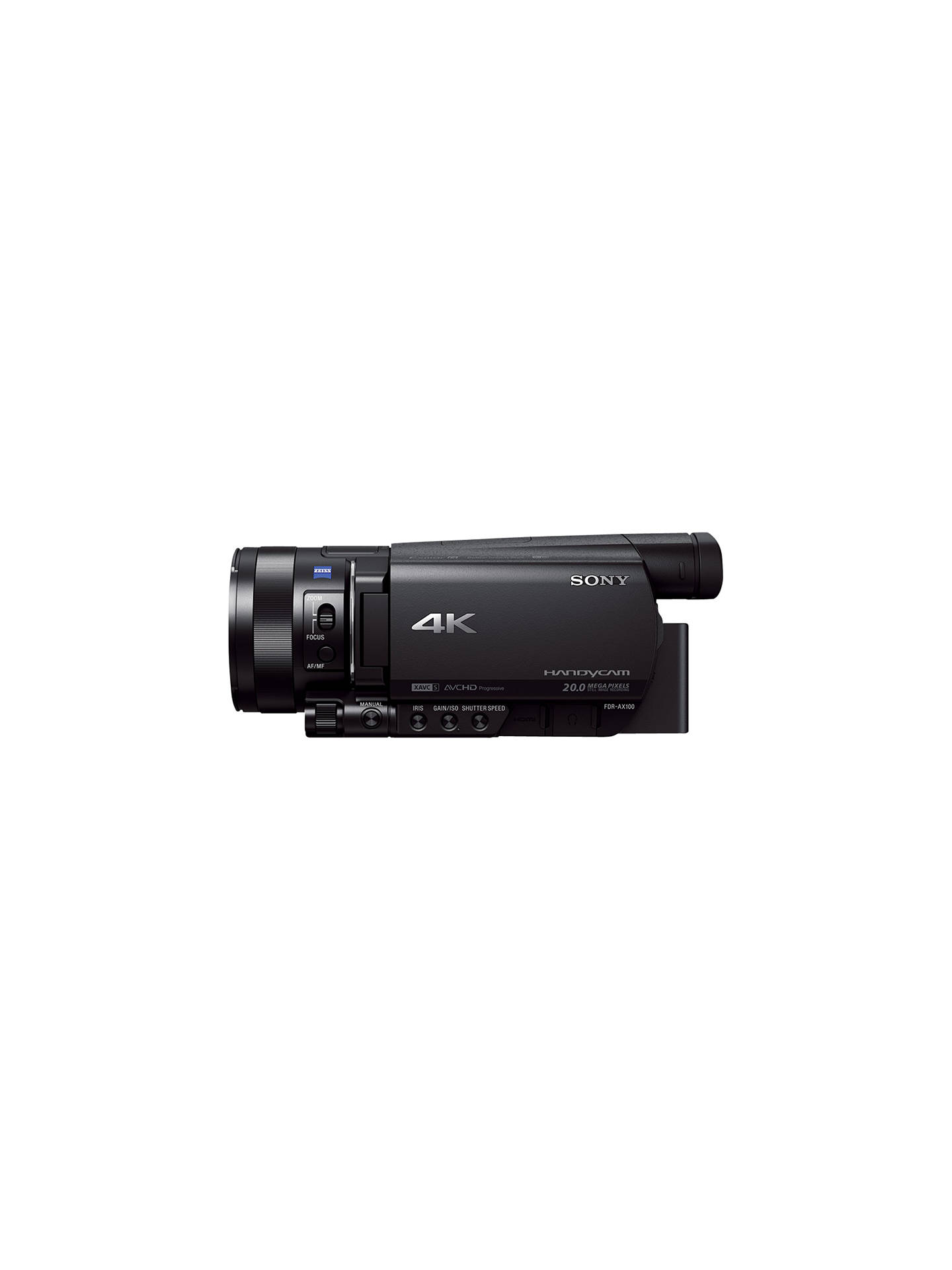Sony AX100 4K Ultra HD Camcorder, 14 2MP, 12x Optical Zoom
