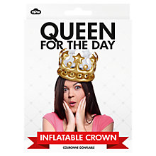 Buy NPW Inflatable Queen Crown Online at johnlewis.com