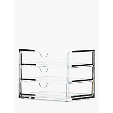 Buy Osco 3 Drawer Acrylic Storage Chest, Small Online at johnlewis.com
