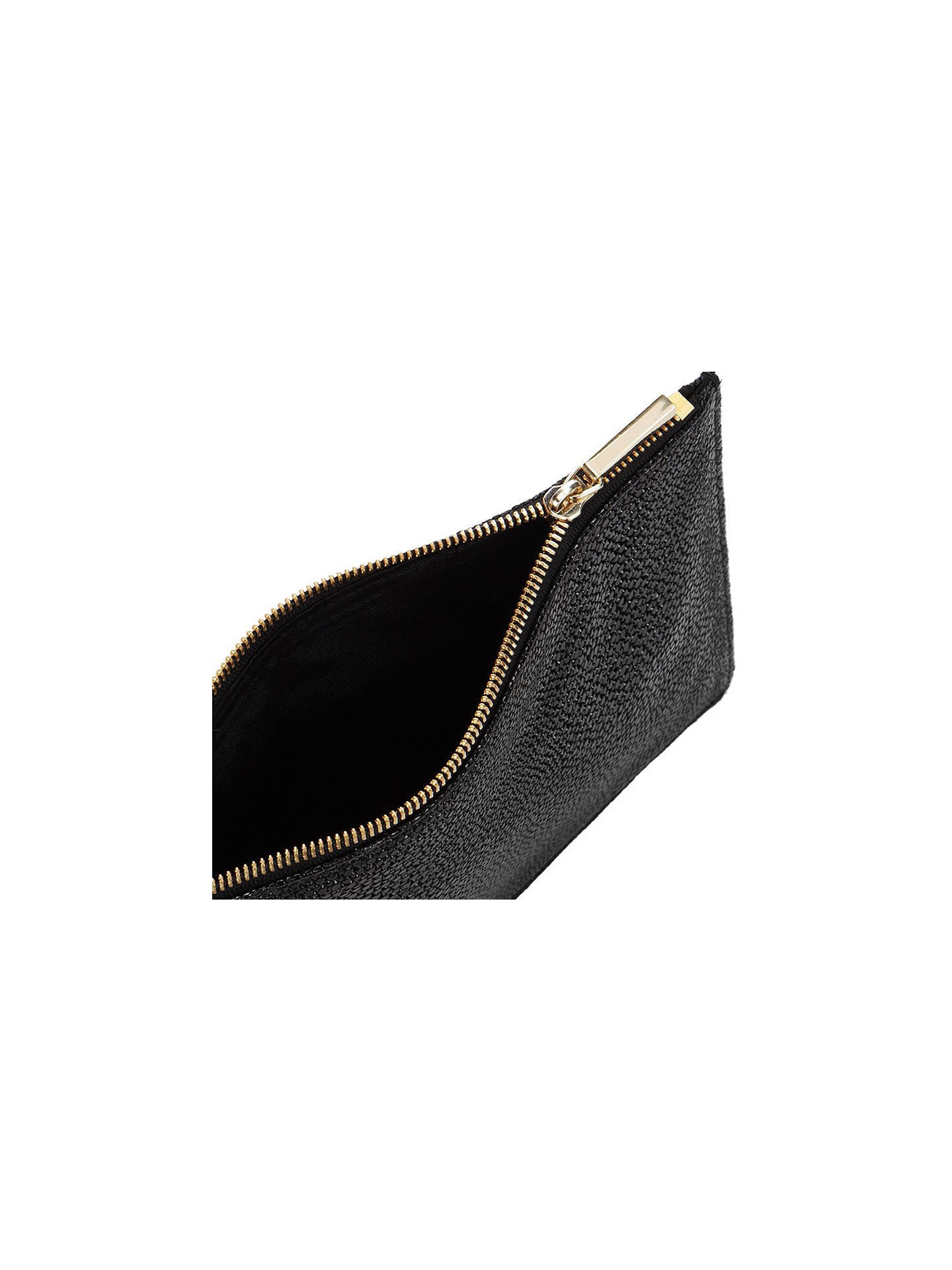 Buy Whistles Stingray Small Leather Clutch Bag, Black Online at johnlewis.com