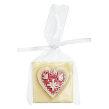 Buy Choc on Choc White Chocolate Floral Heart, 22g Online at johnlewis.com