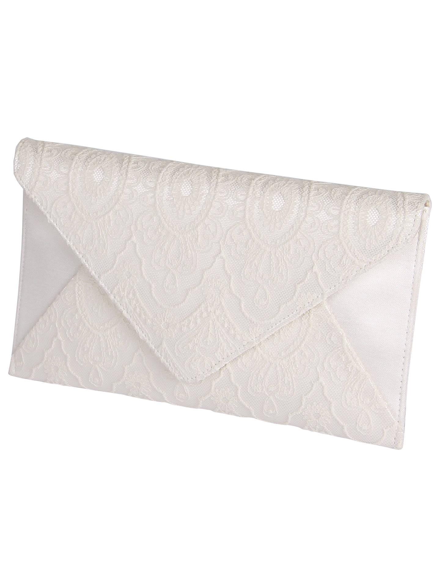 d738e47f4e3 Buy Rainbow Club Lisette Lace Envelope Clutch Bag, Ivory Online at  johnlewis.com