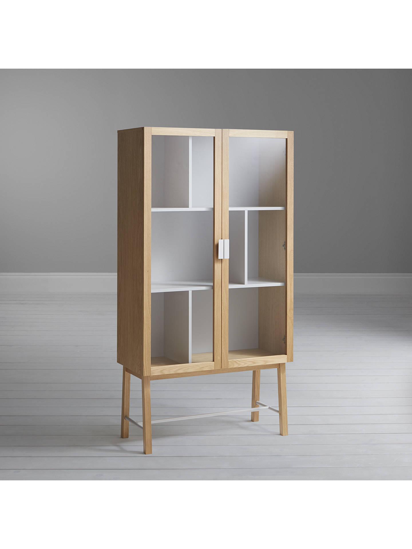 house by john lewis espen tall glass cabinet at john lewis. Black Bedroom Furniture Sets. Home Design Ideas