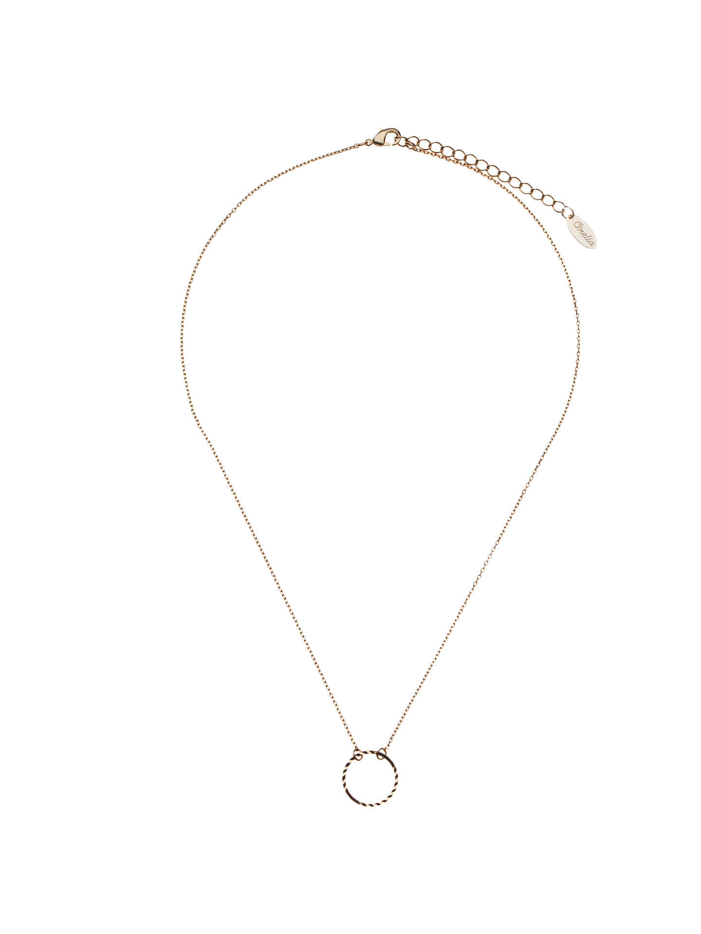 Buy Orelia Gold Toned Ditsy Open Circle Necklace, Gold Online at johnlewis.com