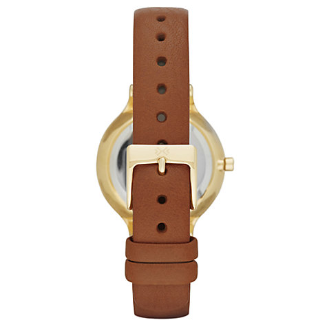 Buy Skagen SKW2147 Women's Anita Leather Strap Watch, Tan/Gold Online at johnlewis.com