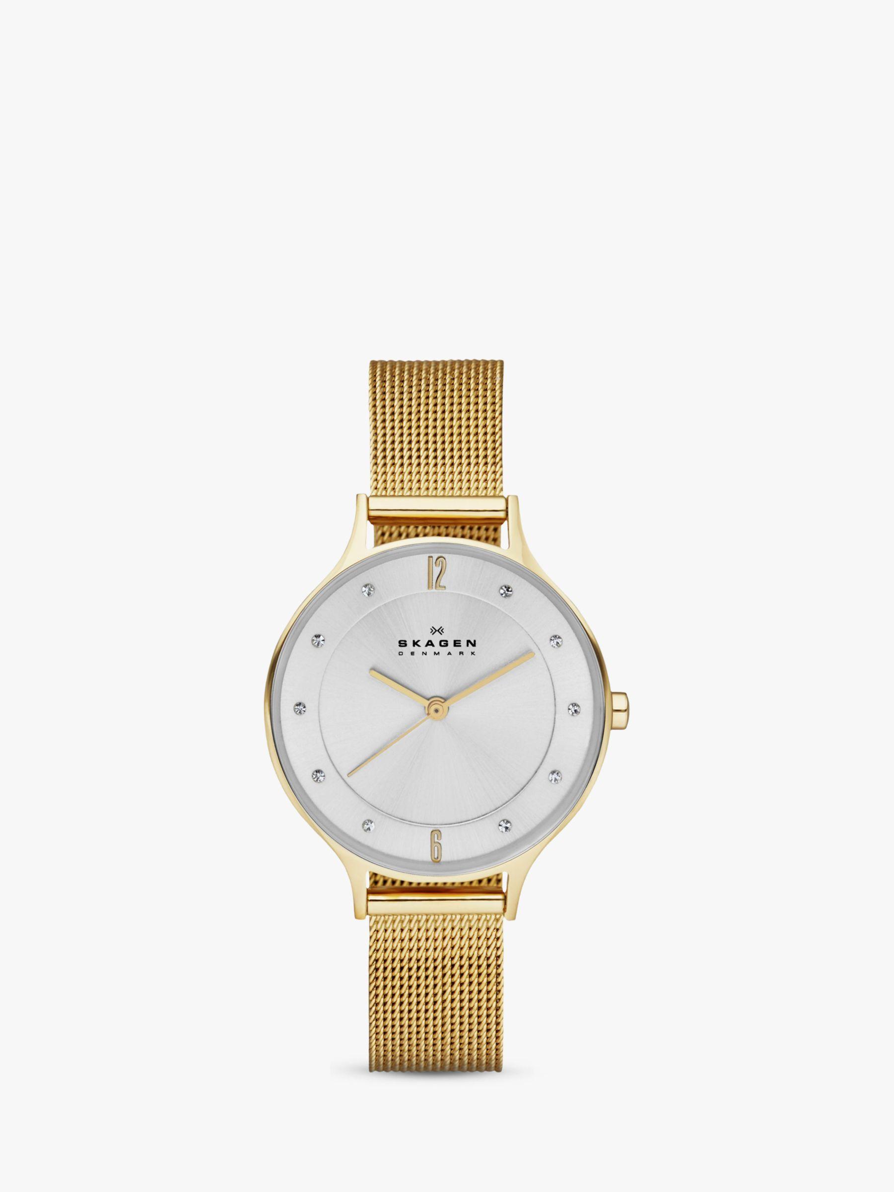 skagen Skagen Women's Anita Stainless Steel Mesh Bracelet Strap Watch