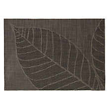 Buy John Lewis Leaf Placemats, Set of 2, Grey Online at johnlewis.com