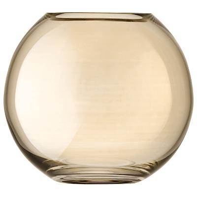 LSA International Polka Vase, H16cm, Sheer Bronze