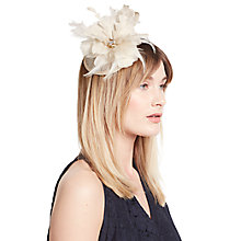 Buy John Lewis Sinamay Loop 2 Fascinator, Champagne Online at johnlewis.com