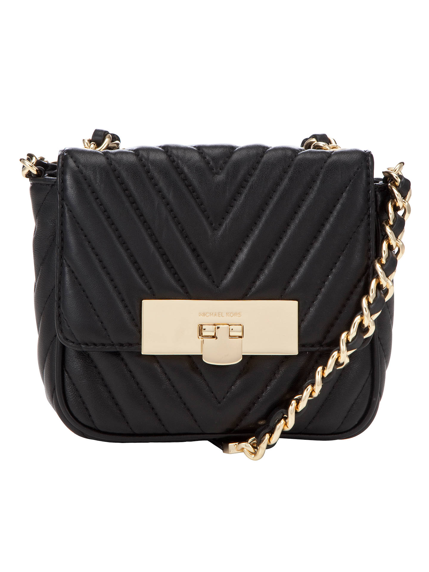 26cd68286005 MICHAEL Michael Kors Susannah Small Leather Messenger Bag at John ...