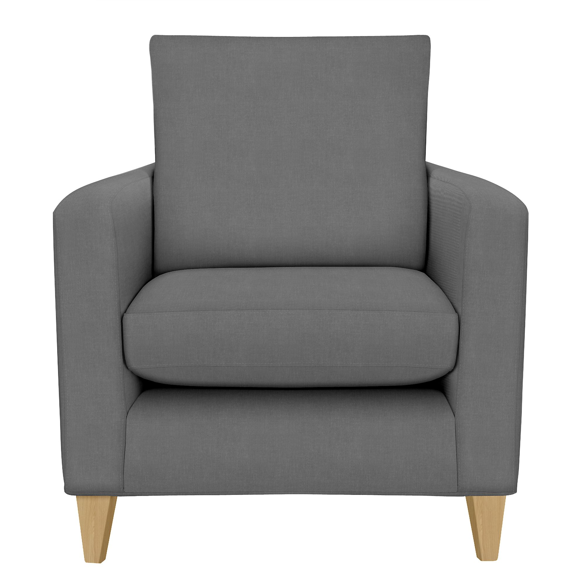 John Lewis Bailey Loose Cover Chair Kerry Charcoal At John Lewis