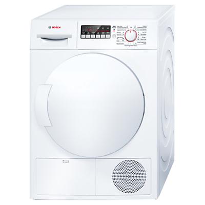 Bosch WTB84200GB Sensor Condenser Tumble Dryer, 8kg Load, B Energy Rating, White