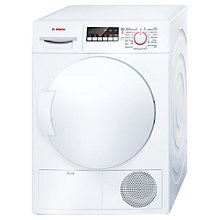 Buy Bosch WTB84200GB Sensor Condenser Tumble Dryer, 8kg Load, B Energy Rating, White Online at johnlewis.com