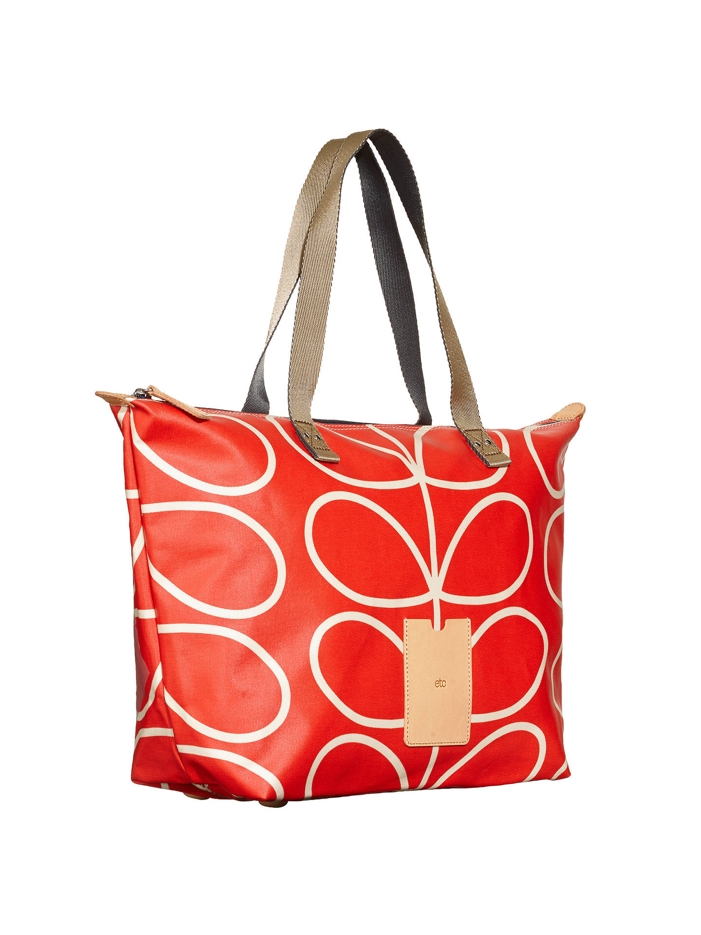 Orla Kiely Giant Linear Zip Per Bag Red At John Lewis